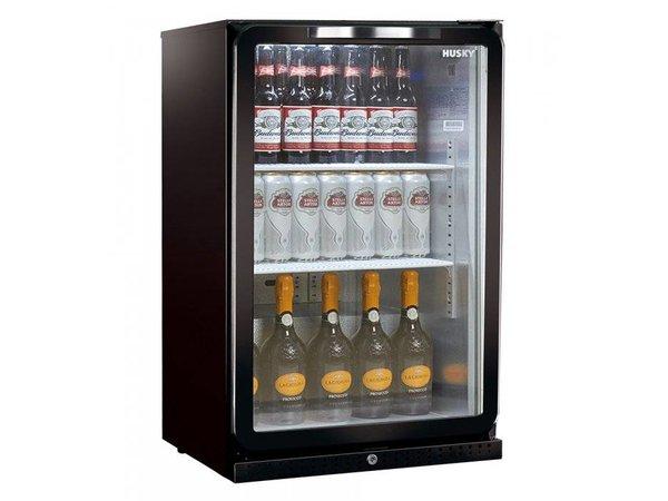 Husky Barkoelkast Glasdeur Zwart | 112 Liter | LED Verlichting | 555x495x865(h)mm