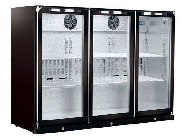 Husky Barkoelkast 3 Deurs Zwart | Intelligenzia 296 Liter | LED Verlichting | 1350x495x865(h)mm
