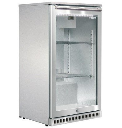Husky RVS Barkoelkast Outdoor | 102 Liter | LED Verlichting | 555x495x840(h)mm