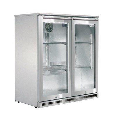 Husky RVS Barkoelkast Dubbeldeurs | Outdoor | 170 Liter | LED Verlichting | 865x495x840(h)mm