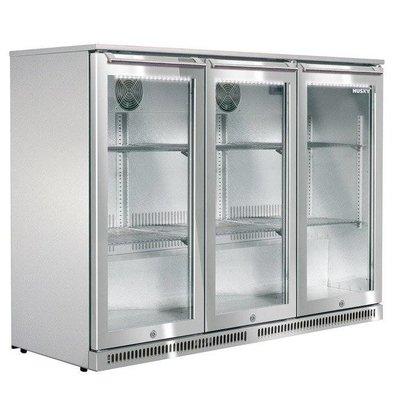 Husky RVS Barkoelkast 3 Deurs | Outdoor | 285 Liter | LED Verlichting | 1350x495x840(h)mm