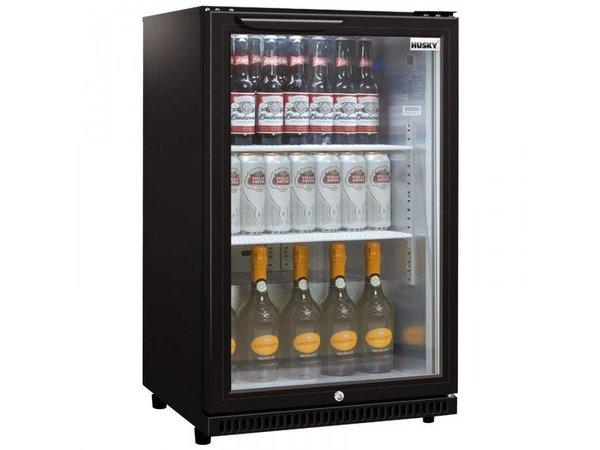 Husky Barkoelkast Glasdeur Zwart | 112 Liter | Geforceerd | 555x495x865(h)mm