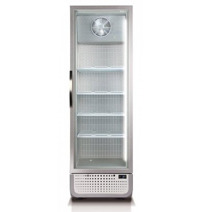Husky Freezer Glass door 378 Liter White / Silver | LED lighting R290a | 650x719x1985 (h) mm