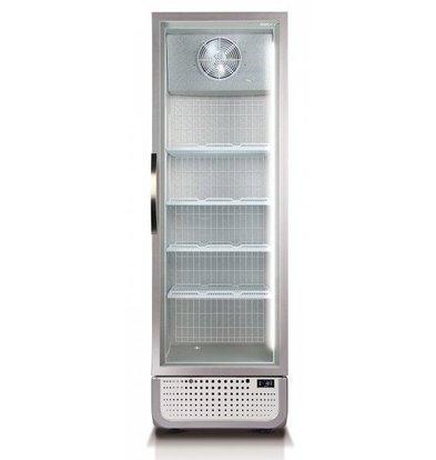 Husky Gefrierschrank Glastür 378 Liter Weiß / Silber | LED-Beleuchtung R290a | 650x719x1985 (h) mm