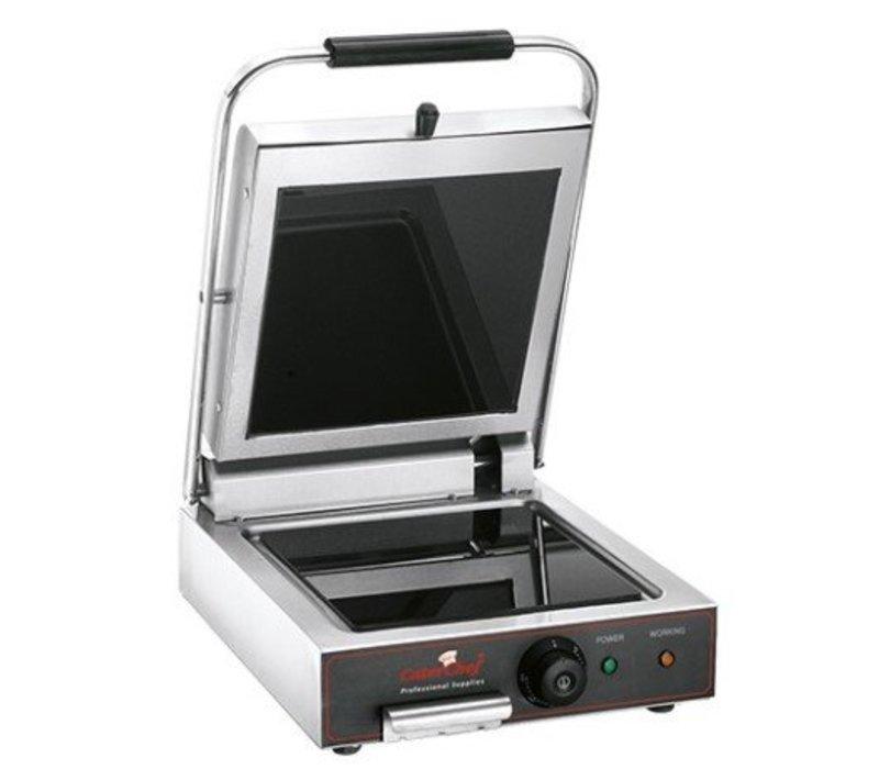 Caterchef Contactgrill Keramisch Glad | 25x25cm | Snel tot 400°C(!) | 1600W | 340x480x170(h)mm