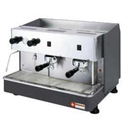 Diamond Espresso-Maschine | 2 Gruppen Halbautomatisch | 2,9kW | 650x530x (H) 430mm