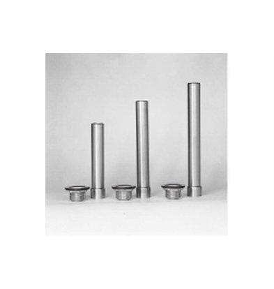 "XXLselect Edelstahl Standrohr | Einschließlich Ablaufgitter 1 ""1/2 | (h) 170mm"