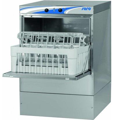 Glaswaschmaschine 40x40cm | 470x510x (H) 710mm Glasur + Seifenspender | Mit Ablaufpumpe