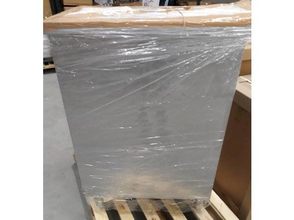 XXLselect Edelstahl-Schwerlastschrank Waterkering Über ganzes Arbeitsblatt 1,2 mm dickes Material Regal in der Mitte   Türgröße: 620 (B) x860 (H) mm   Unter einer Arbeitsplatte 1,5 mm dick AISI 304 Qualität 1400x700x1090 (H)