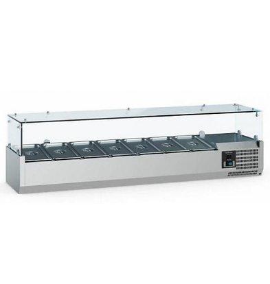 Ecofrost Set-up refrigerator display - 5x 1/4 GN - 120x33.5x (H) 43.5 cm