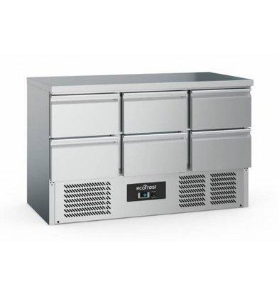 Ecofrost Cool workbench - 6 drawers - 368 liters - 137x70x (h) 85cm