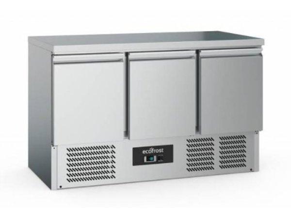 Ecofrost Werkbank kühlen - 3 door - 368 Liter - 137x70x (h) 85cm