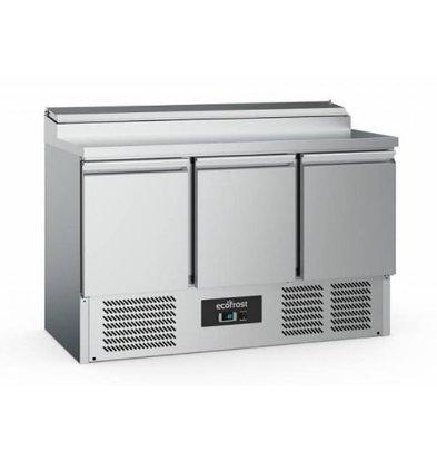 Ecofrost Saladette - 3 door - 392 Liter - 137x70x (h) 97cm