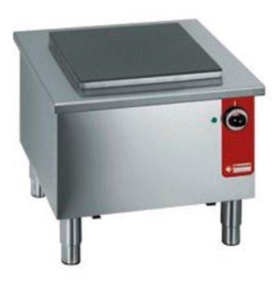 Diamond Elektrische Brander RVS | Gietijzeren Plaat 40x40cm | 580x580x(h)520mm