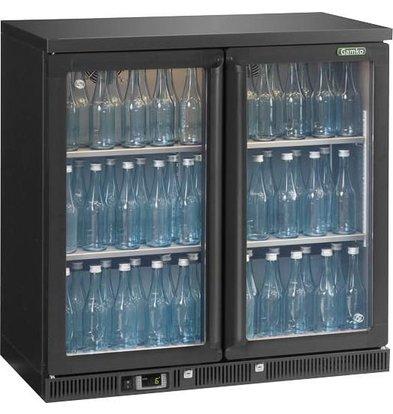 Gamko Flessenkoeling 2-Deurs | Antraciet | Gamko LG2/250G84 Maxiglass | 250L | Klapdeuren | 900x536x850mm
