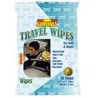 WM Simoniz Travel Wipes (24 per doos, 20 per verpakking hersluitbaar)