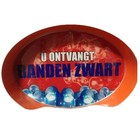"Oval Sign: ""Banden Zwart"""