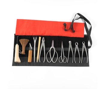 Expertos de 12 piezas Juego de herramientas de acero inoxidable con base