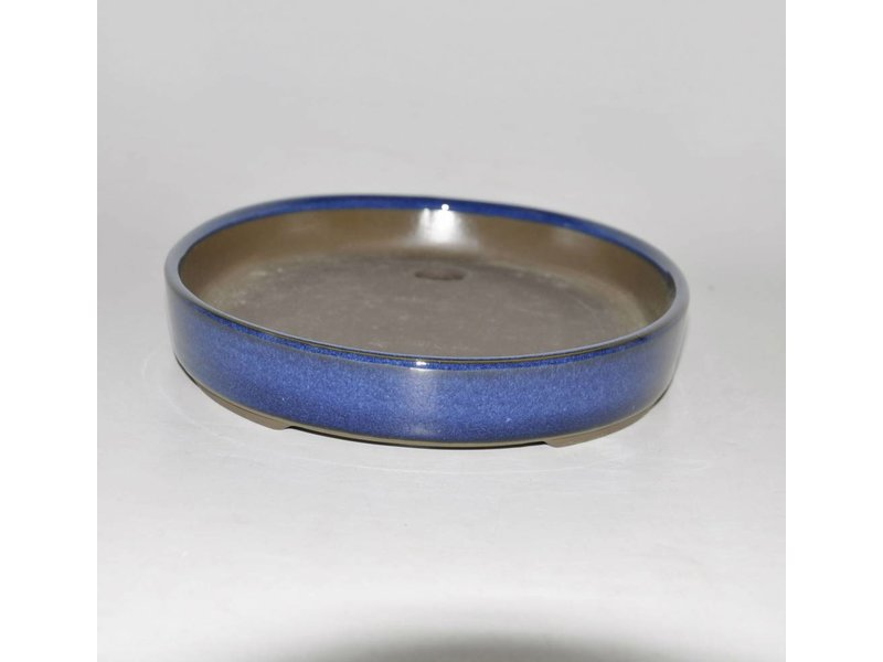 Bonsai pot blue 29,5 cm Seto Yaki