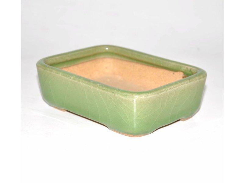 Bonsai Topf grün 14 cm Hattori Tokoname