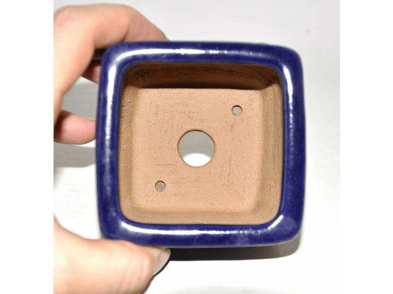 Bonsai pot blue 9 cm Shibakatso