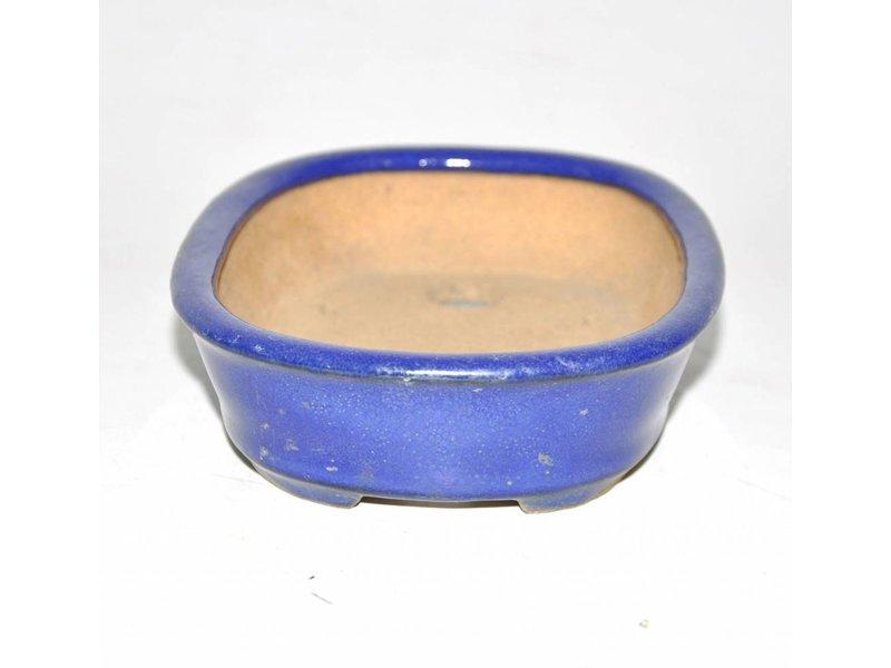Bonsai pot blue 16 cm