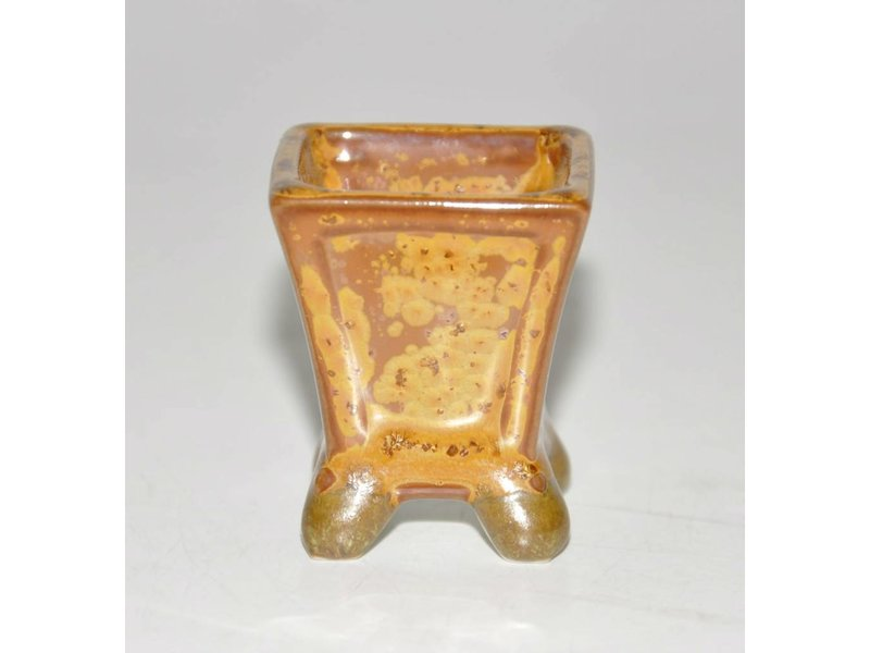 Bonsai pot orange 3 cm