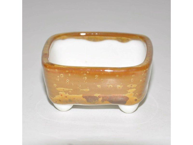 Bonsai pentola marrone chiaro 5,5 cm