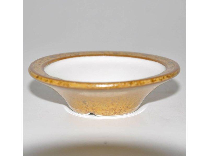 Bonsai olla de color marrón claro de 7 cm