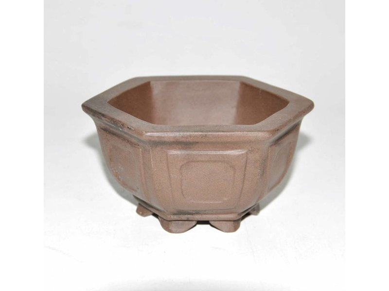 Bonsai pot brown 10 cm