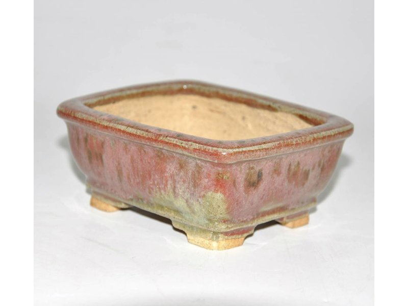 Bonsai pot red 11 cm