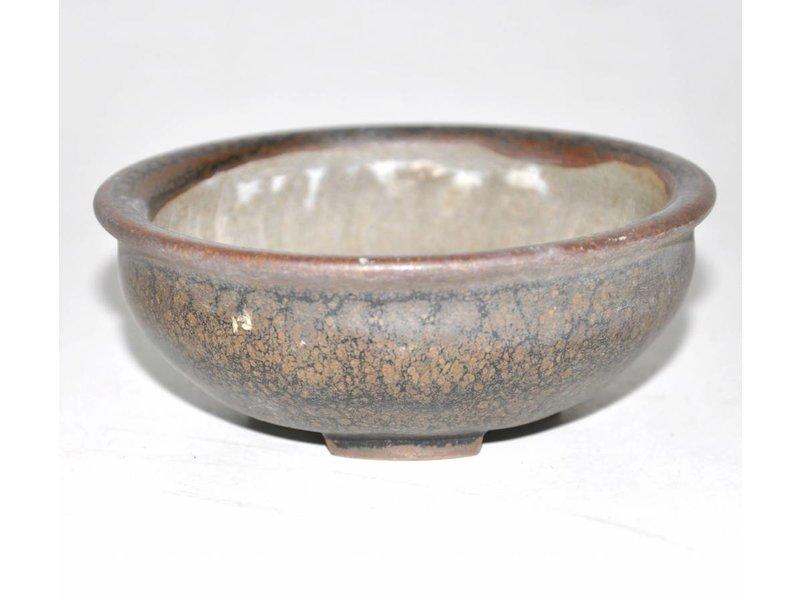 Brown runden Topf, 10 cm