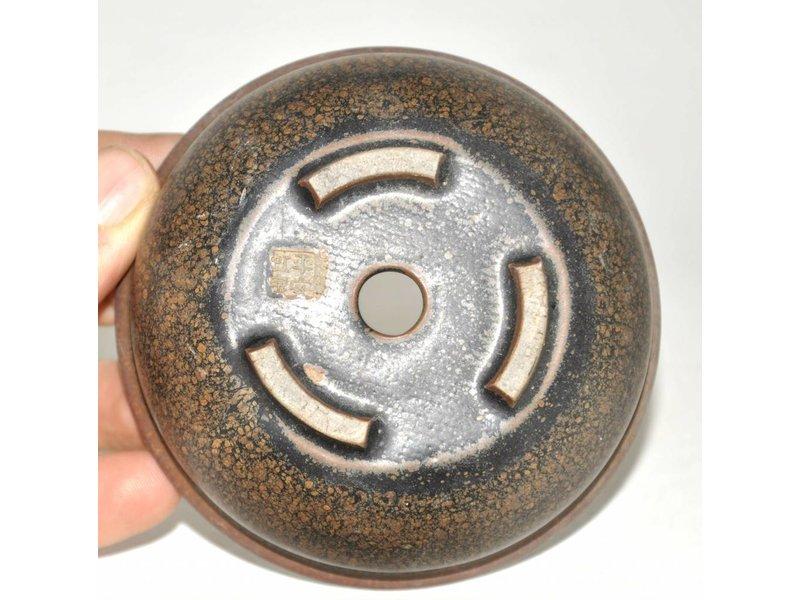 Brown round pot, 10 cm