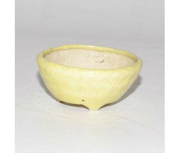 Round yellow pot, 6,5 cm