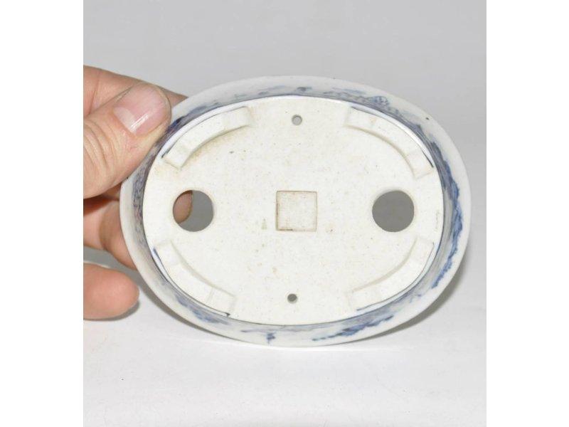 Oval Hand bemalt Topf 11 cm