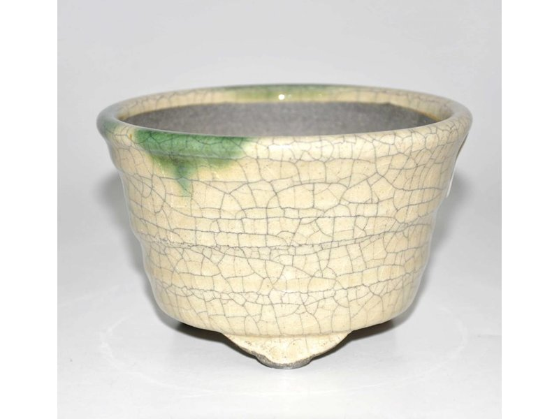 Bonsai pot yellow 12,5 cm