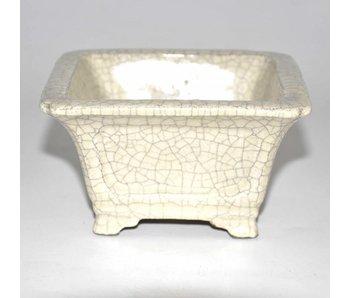 Rectangular white pot