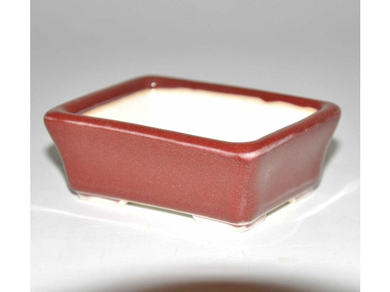 Bonsai pot red 8 cm