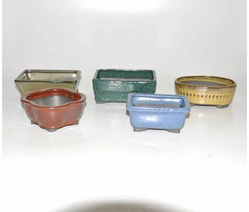 Set van 5 shohin potten