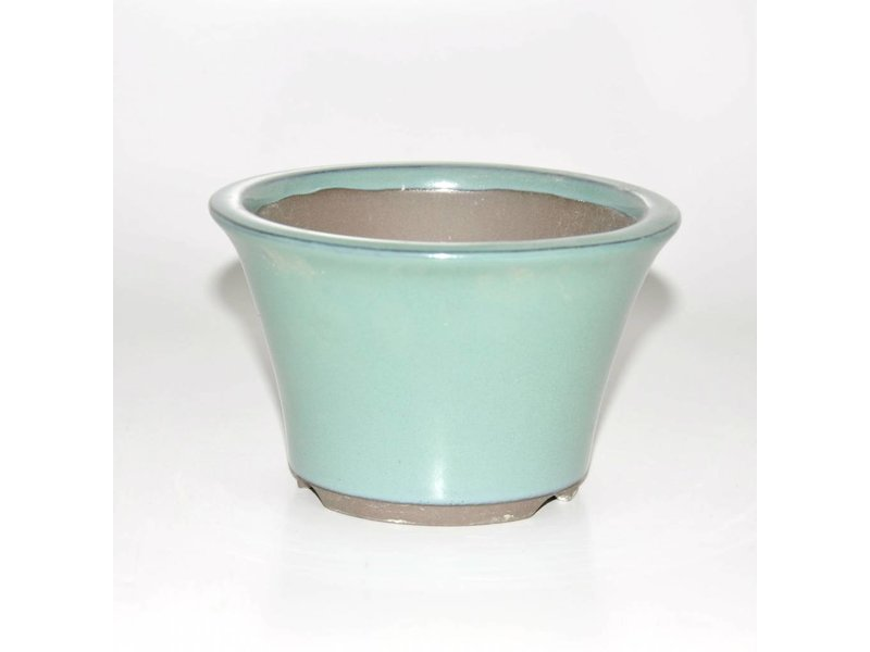 Bonsai pot green 12,5 cm Seto Yaki