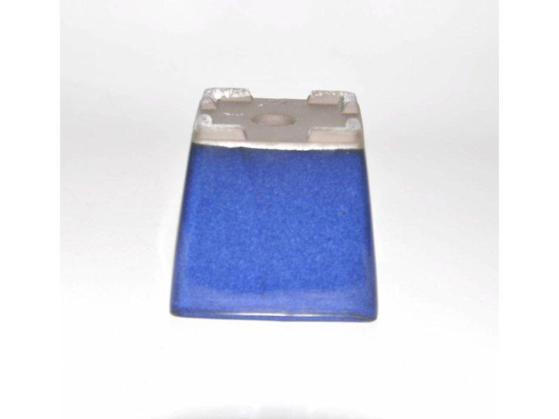 Bonsai Topf blau 9 cm Seto Yaki
