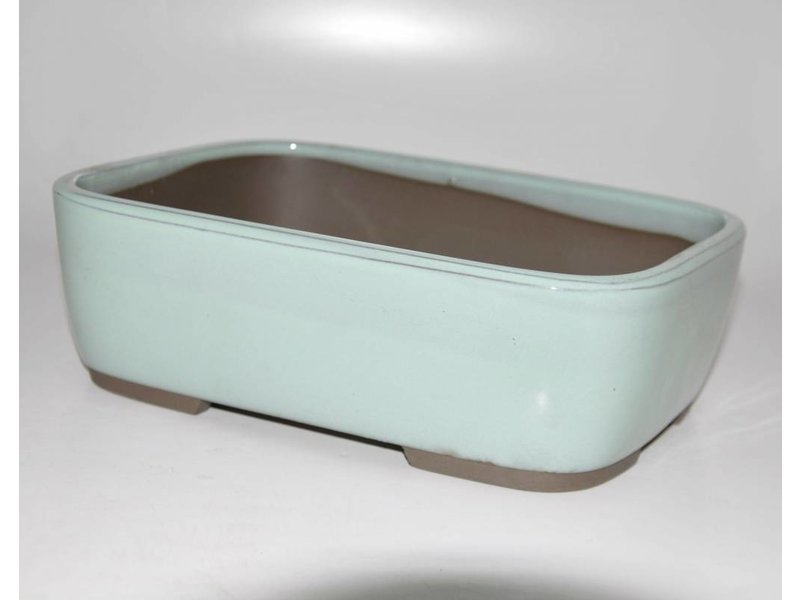 Bonsai pot light green 22,5 cm Seto Yaki