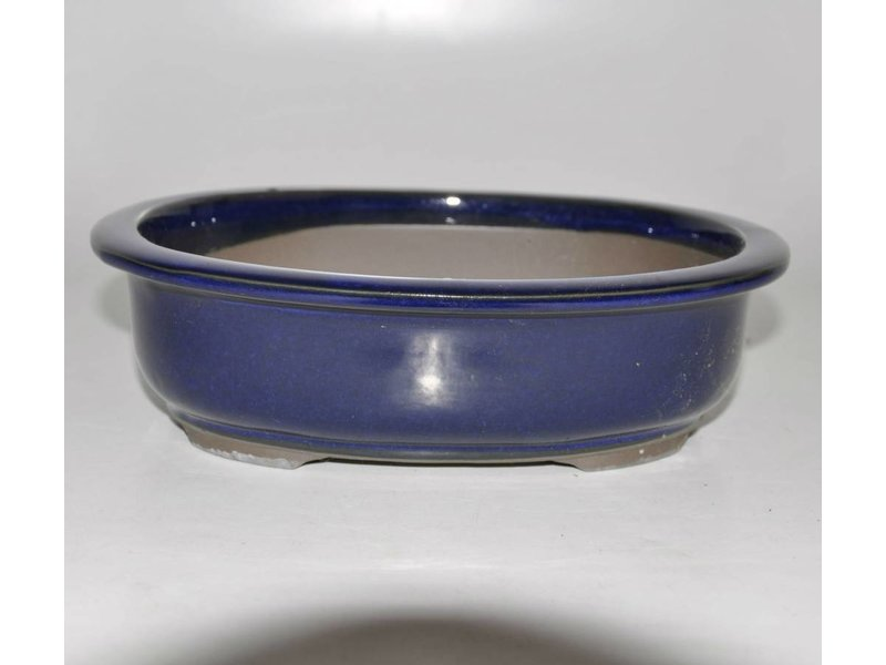 Bonsai pot blue 24 cm Seto Yak4
