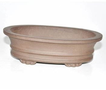 Bonsai pot brown 18,5 cm