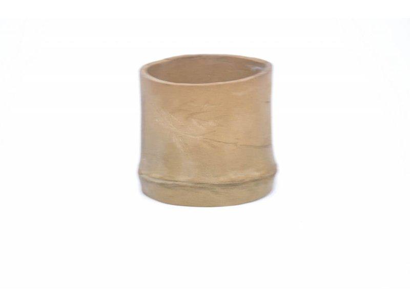 Vaso di bambù rotondo