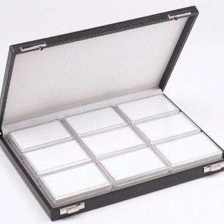 Case content 9 plastic boxes for gemstones