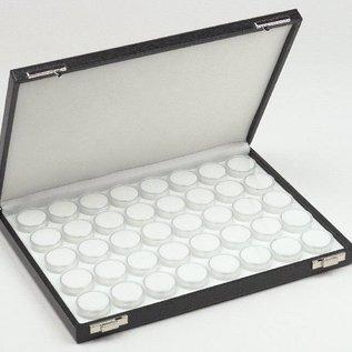 Gemstone case content 40 round plastic boxes for gemstones