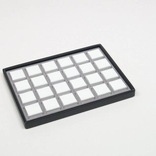 sliding tray content 24 plastic boxes for gemstones