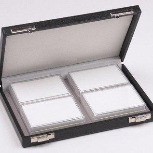 Etui mit 4 Kunststoffdosen für Edelsteine, viertel Größe