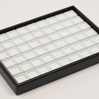 stacking tray content 54 glass lid boxes for gemstones